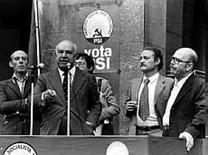 Il segretario del PSI Francesco De Martino (1907-2002)