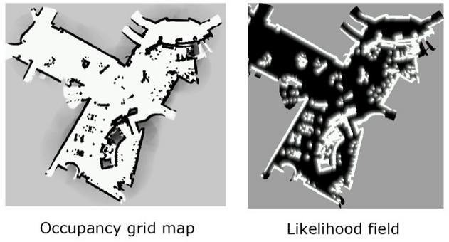 Esplorazione: Uso combinato di occupancy grid per likelihood field.