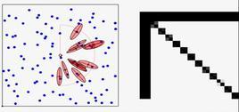 Blue path = true path   Red path = estimated path   Black path = odometry.