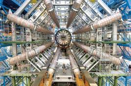 Figura 4.7. Il rivelatore ATLAS del CERN di Ginevra dove vengono misurate le interazioni fondamentali tra particelle. (foto Cern)