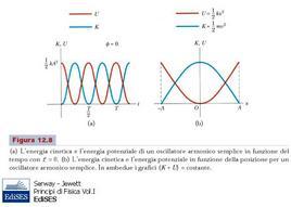 """Figura 6.6. Energia meccanica in un oscillatore armonico. Fonte: Serway, Jewett, """"Principi di Fisica Vol I"""", Edises."""