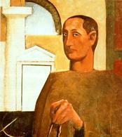 Mario Sironi, L'architetto, olio su tela, 1922