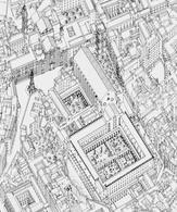 L'area di S. Chiara. Fonte: Baculo A., Napoli in Assonometria, Electa, Napoli 1992
