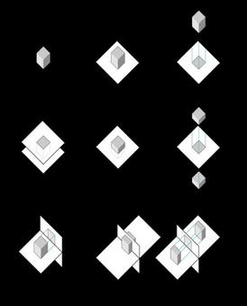 Sintesi delle operazioni di proiezione e di sezione, orizzontali e verticali, applicate a un solido generico