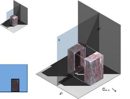 Operazioni geometriche per la determinazione della sezione verticale di un parallelepipedo