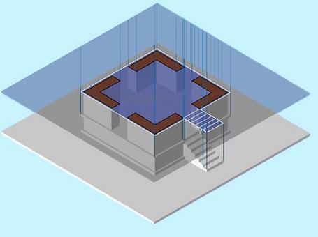 Codificazione degli elementi sezionati (contorno nero) e degli elementi in proiezione (contorno bianco)