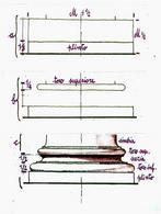 R. Migliari, Disegno della base attica vitruviana