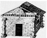 Jacques François Blondel, La capanna primitiva, 1777