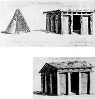 William Chambers, Capanna primitiva ed evoluzione degli ordini, 1769