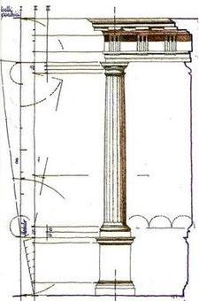 Migliari R., Accorgimento di Palladio per il disegno dell'éntasi, 1991