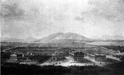 Major T., A North View of the city of Paestum taken from under the gate, 1768