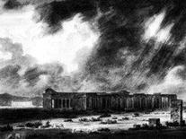Cozens J. R. , I due templi a Paestum, 1782