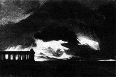 Turner W., Il tempio di Paestum nella tempesta, 1825 ca