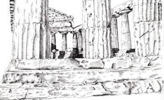 Paestum, Tempio di Cecere, penna