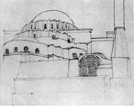 Le Corbusier, Istanbul, Santa Sofia, 1911