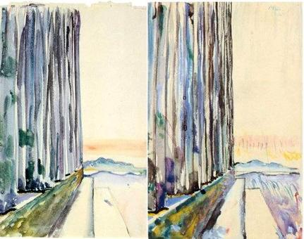 Le Corbusier, Atene, Partenone, scorcio del fianco nord-est e variazione del tema, 1911