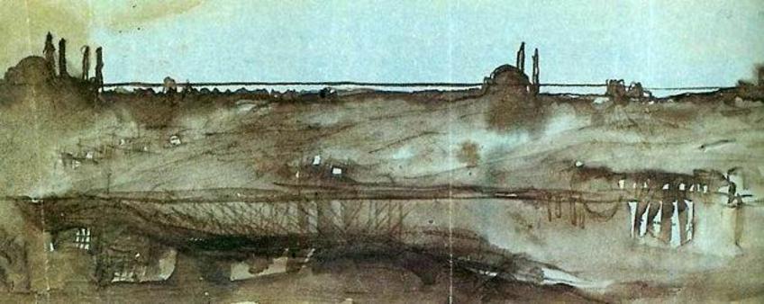 Le Corbusier, Collina di Istanbul, sullo sfondo l'orizzonte del mar di Marmara, 1911