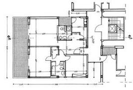 Pianta di un appartamento, scala 1:100