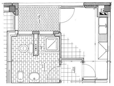 Stralcio della precedente pianta di un appartamento, scala 1:10