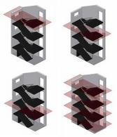 Metodologia di rappresentazione di una scala a doppio rampante