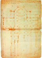 Antonio di Vincenzo, Pianta e sezione del Duomo di Milano, 1390