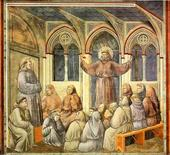 Giotto, Apparizione del Santo al Capitolo di Arles, 1304
