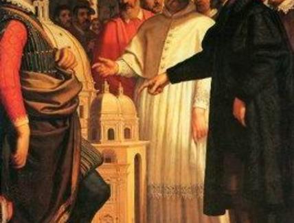 D. Cresti, Michelangelo presenta a Paolo IV il modello di S. Pietro, 1619