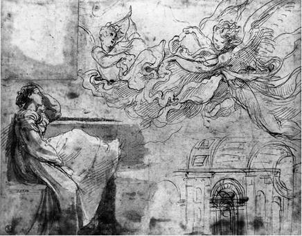 Raffaello, Studi per una Danae e per il corpo longitudinale della Basilica di S. Pietro
