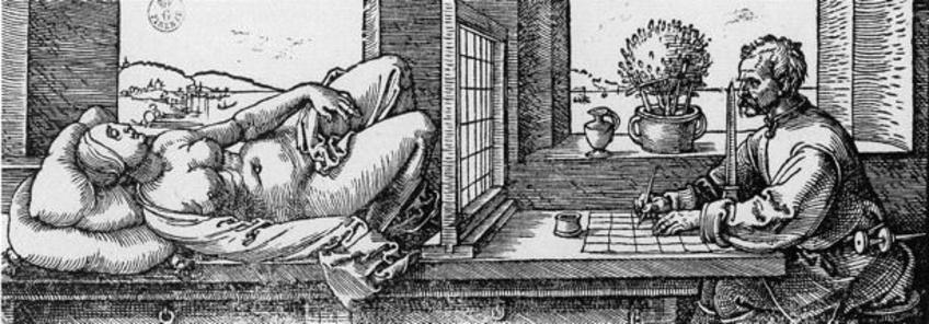 Albrecht Dürer, Il Velo, Il vetro con visore, 1525 ca