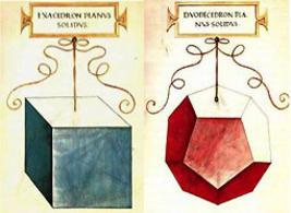 Leonardo da Vinci, Solidi platonici, in Luca Pacioli, De Divina Proportione, 1498