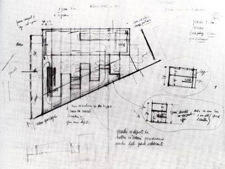 Gardella, Schizzo di progetto, Galleria d'arte contemporanea alla Villa Reale