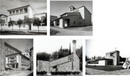 Michelucci, Villa Vittoria, Chiesa SS. Pietro e Gerolamo, Borsa Merci, Chiesa, Monumento