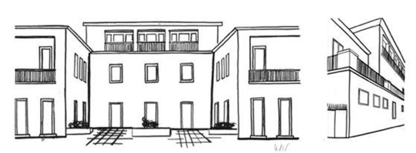 Michelucci, Villa Vittoria, Forte dei Marmi, 1939. Schizzi di studio di allievi del corso