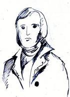 Charles Robert Darwin (Shrewsbury, 12 febbraio 1809 – Londra, 19 aprile 1882). Disegno di Domenico Fulgione.