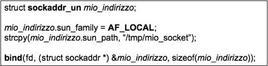 Esempio di naming per un socket locale.