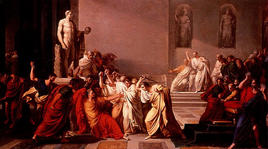 Caesar's death, Vincenzo Camuccini. (Image supplied by the author)