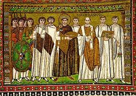 Justinian and his court. (Image supplied by the author)