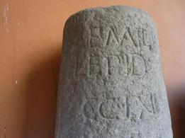 Milestone from ancient Via Aemilia. (Image supplied by the author)