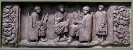 A teacher with three discipuli. (Image supplied by the author)