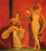 Villa dei Misteri, Pompeii, detail with dancing menad. (Image supplied by the author)