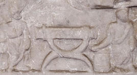 Funerary relief with a sella curulis. (Image supplied by the author)