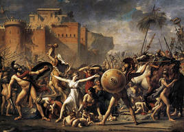 The Intervention of the Sabine Women, painted by Jacques-Louis David  in 1799. (Image supplied by the author)