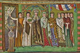Teodora and her court. (Image supplied by the author)