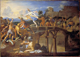 Horatius Cocles defending the Subligio Bridge, Charles Le Brun. (Image supplied by the author)