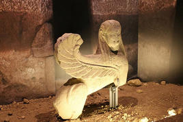 The Sphinx, National  Archeological Museum of Vulci, Italy. (Image supplied by the author)