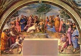 Raffaello, Parnaso. Fonte:  Wikipedia