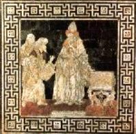 Ermete Trismegisto contemporaneo di Mosé. Tarsia del Duomo di Santa Maria Assunta di Siena. Fonte:  L'Angolo di Hermes