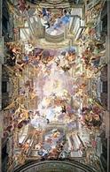 Mondi altri nell'arte. G.B.Gaulli, Baciccia, Trionfo di Gesù. Tratta da: Fonte:  Wikipedia