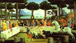Botticelli, Il banchetto nel bosco. Fonte:  ArteAntica
