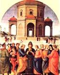 Perugino, Sposalizio della Vergine. Fonte:  Bella Umbria